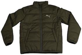 Puma Boy Polyester Solid Winter jacket - Green