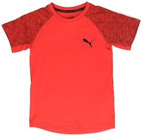 Puma Boy Cotton T shirt - Red