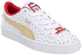 Puma White Girls Casual Shoes