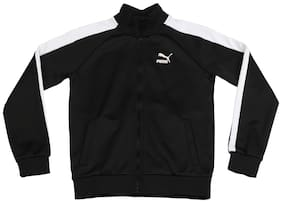 Puma Boy Polyester Colorblocked Winter jacket - Black