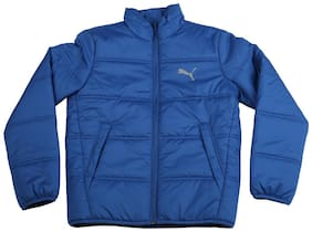 Puma Boy Polyester Solid Winter jacket - Blue