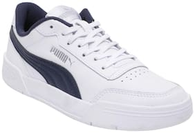 Puma White Canvas shoes for boys