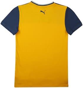 Puma Boy Cotton blend Printed T-shirt - Yellow