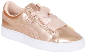 Puma Tan Casual Shoes For Infants
