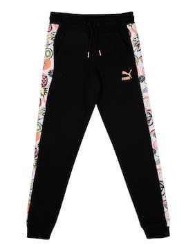 Puma Girl Cotton Track pants - Black