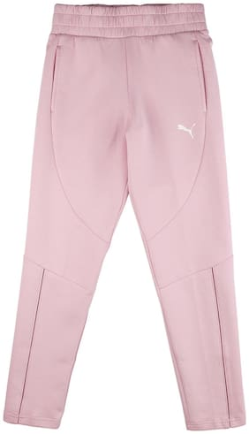 Puma Girl Cotton Track pants - Pink