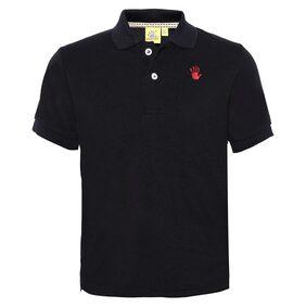 punkster Boy Cotton Solid T-shirt - Black