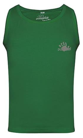 punkster Girl Cotton Printed Top - Green