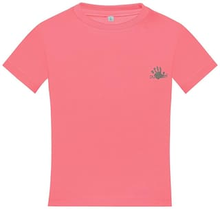 punkster Cotton Solid Top for Baby Boy - Pink