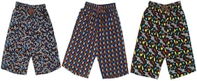 Pure Cotton Printed Regular Bermuda Shorts for Boys and Girls (Pack of 3)