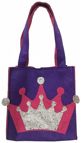 Purple Crown Felt Tote