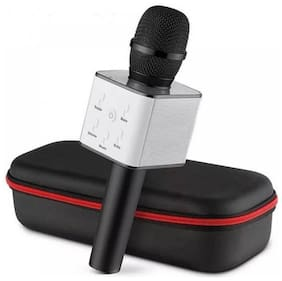 Q7 Mic Portable Wireless Karaoke With inbuilt speaeker for all smart phones