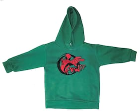 QAMASH kid's latest solid spider man printed hoodie
