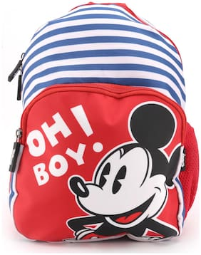 QIPS by HMI Disney Mickey Mouse 12 Inch / 10L Printed School Bag for kids;Blue / Yellow