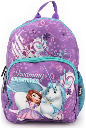 QIPS by HMI Disney Sofia 12 Inch / 10L Printed School Bag for kids