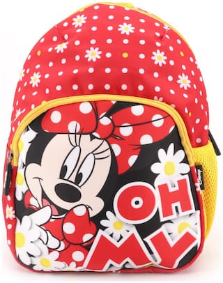 QIPS by HMI Disney Minnie Mouse 12 inch / 10L Printed School Bag for kids