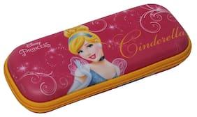 Qips Disney Cinderella Art Eva Pencil Box (Set Of 1 Pink)