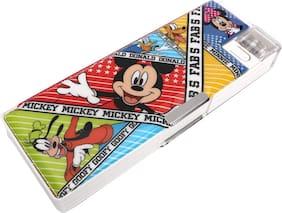Qips Disney Mickey Mouse Art Plastic Pencil Box (Set Of 1 Multicolor)