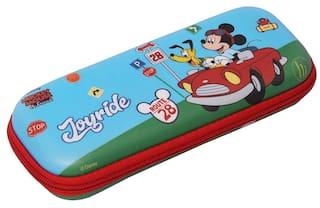 Qips Disney Mickey Art Eva Pencil Box (Set Of 1 Light Blue)