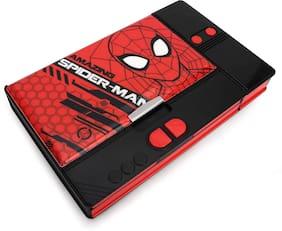 Qips Marvel Spiderman Art Plastic Pencil Box (Set Of 1 Red Black)