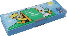 QIPS Pencil Box Plastic Set of 1 Multi