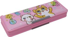 QIPS Pencil Box Plastic Set of 1 Pink