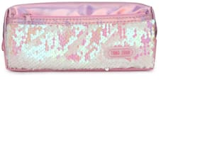 QIPS Reveisible Sequin Multi-Utility Pencil Pouch Bag L.Pink