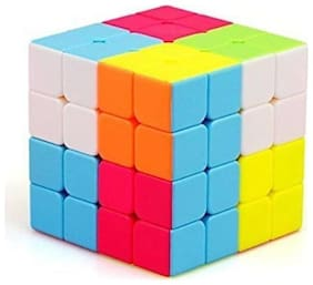 qiyi 4x4x4 High Speed Stickerless Cube, High Stability, Amazing Stress Reliever Cube Game, Easy Turning and Smooth Play Puzzle Toy, Multi-Color (1 Pieces)  (1 Pieces)