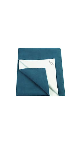 Buy Quick Dry Plain Small Size Baby Sheet Deep Sea Blue