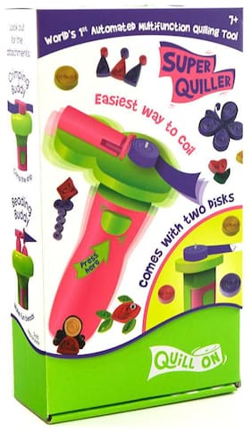 QUILL ON-SUPER QUILLER Automated Multifunction Quilling Tool- Pink