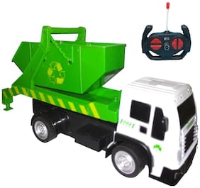 R/C Garbage Sanitation Recycling Truck with Tipping Bucket - 1:16 Scale Remote Control Garbage Truck