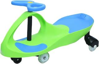 R for Rabbit Iya Iya Swing Car for Kids -Strongest & Smoothest Twister - Magic Car with PU Wheels (Green Blue)