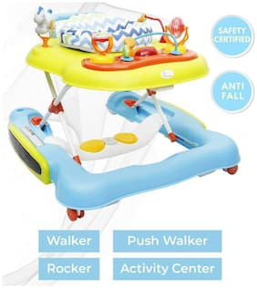 R for Rabbit Tik Tok - The 4 in 1 Baby Walker cum Activity Center (Walker, Rocker, Push Walker, Activity Center) (Multi)