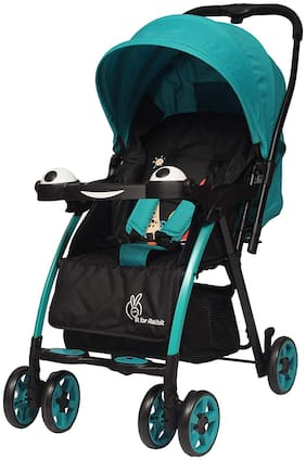 R for Rabbit Poppins (an Ideal Pram) Baby Stroller for Baby/Kids and Moms (Green Black)