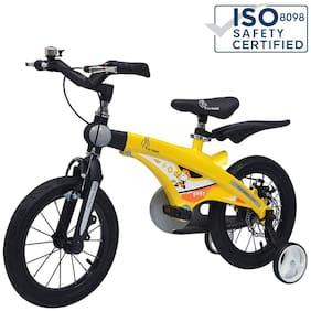 R for Rabbit Tiny Toes Jazz Bicycle for Kids - The Smart Plug and Play Kids Cycle (16 inch/T - for Kids 4 Years to 7 Years) (Yellow-)