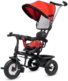 R for Rabbit Tiny Toes Sportz - The Stylish Plug and Play Tricycle for Baby (Red)