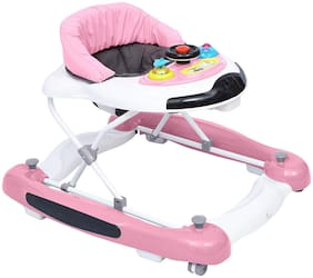 R for Rabbit Ringa Ringa - The Anti Fall and Safe Rocking Baby Walker (Pink)