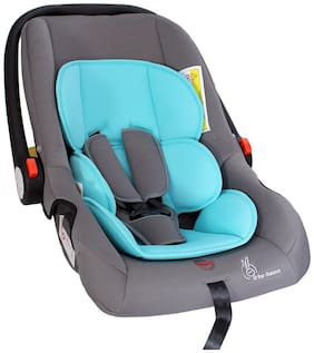 R for Rabbit Blue And Grey Car Seat Cum Carry Cot