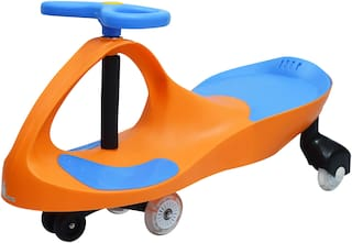 R for Rabbit Iya Iya Swing Car for Kids -Strongest & Smoothest Twister - Magic Car with PU Wheels (Orange Blue)