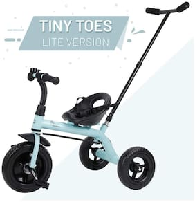 R for Rabbit Tiny Toes Lite - Baby/Kids Cycle - Smart Plug & Play Baby Tricycle for Kids/Baby  (Lake Blue)