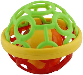 R L SONS Kid's Shake and Grab Ball, Educational and Developmental Toys, Set of 1, Multi Colored