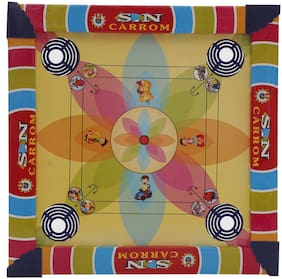 R L SONS Kids Carrom Board and Ludo Game Combo  2 in 1  with CoinsStriker for Carrom and Dice and 16 Tokens for Ludo