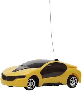 R L SONS Remote Control Designer Toy Car for KidsBoysGirls (Yellow)