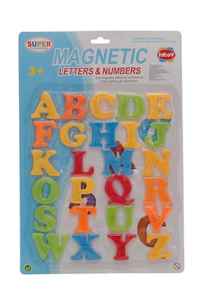 R L SONS Toys Magnetic Alphabets Early Education Plastic Learning Toy for All Kids (ABCD Capital Letter Multicolour) (Set 1)
