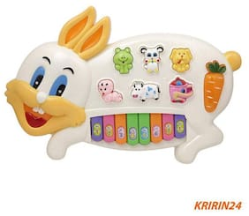 Rabbits Musical Piano with 3 Modes Animal Sounds, Flashing Lights & Wonderful Music