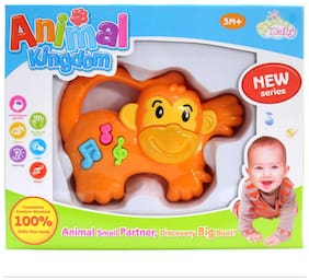 Rachna's Animal Kingdom Baby / Infant Lion Musical Rattle Toy - Yellow