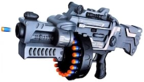 radhe enterprise Blaze Storm Foam Bullet Gun with 40 Free Bullets (Military Grey) for kids