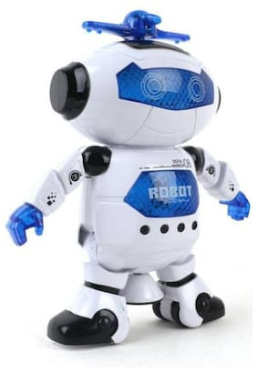 radhe enterprise Naughty Dancing Robot with Swinging Arms and Head, Multi Color