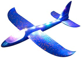 radhe enterprise Hand Launch Throwing 48cm Glider EVA Aircraft LED Light Airplane