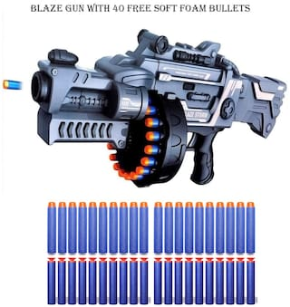 radhe enterprise  Storm Foam Bullet Gun with 40 Free Bullets (Military Grey)